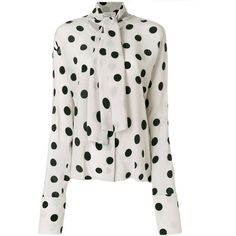 b7b11e2264b Natasha Zinko polka dot blouse ( 364) ❤ liked on Polyvore featuring tops