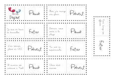 Dominos Passé, Présent, Futur - la classe de Calliplume Presentation, French Grammar, Dominos, Word Work, Bullet Journal, Teaching, Education, Math, Words