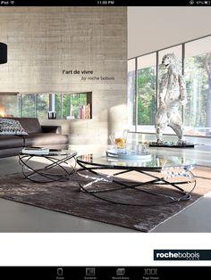 Original Design Glass Table Les Contemporains Voiles By