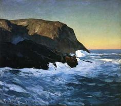Rockwell Kent,  Headlands and Sea Fine Art Reproduction Oil Painting