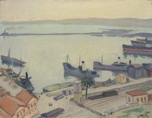 Port in Algeria: Albert Marquet Canvas Size, Oil On Canvas, Hakone, Art Museum, Display, Painters, Collection, Art, Impressionism