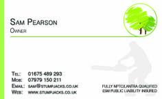 Stump Jacks Business Cards