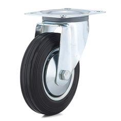 Richelieu F24788 Industrial Euro Series Rubber Swivel Caster