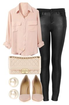 """""""Untitled #605"""" by arianaloverx ❤ liked on Polyvore featuring Topshop, Giuseppe Zanotti, Chanel and Nina"""