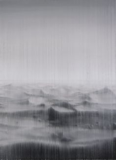 Akihito Takuma; Oil, 2010, Painting Lines of Flight-to the Sahara,op.329