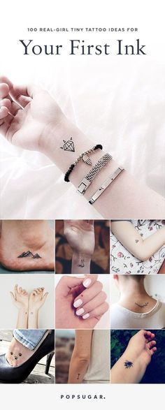 Whether you're looking for a mark with meaning or just a fun design, click to check out all of these teeny-tiny tattoo ideas.