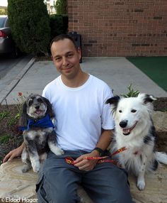 Eldad Hager of Hope for Paws: hero to many dogs on the streets of LA.  Please help support this cause.  Eldad drives hundreds of miles and spends countless hours saving these dogs.  He must gain the trust of these street dogs who have been abused and abandoned.  Read his story at link- and be prepared to sob uncontrollably.   Buy his book here: http://www.amazon.com/Our-Lives-Have-Gone-Dogs/dp/0615246508  Proceeds go directly to helping the dogs! Even if you can't buy the book- please re-pin...