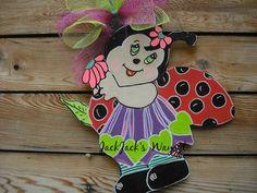 Summer Door HangerLady Bug Door Hanger Summer by JackJacksWayart