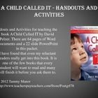 Handouts and Activities for teaching the book A Child Called IT by David Pelzer. There are 64 pages of Word Documents and a 22 slide PowerPoint included.
