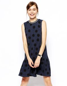 I adore the silhouette that drop hems create, like on this kitsch meets sports luxe dress. http://asos.to/1r41I0Z