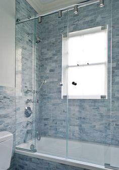 Shower Doors  To prevent soap scum and mold buildup, use a squeegee, sponge, or absorbent towel on your glass shower doors after each and every use. For heavier cleanup, rub on a paste of baking soda and water, by hand or with a non-abrasive sponge, then rinse with vinegar. Head here to learn more.