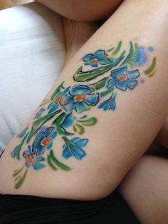 52 Best Forget Me Not Flower Tattoo Meaning Images Flower Tattoo