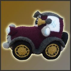 *This is a CROCHET PATTERN and NOT the finished toy*  16 valves engine, aluminium auto body, airbags...this would be some of the features any modern car has to offer you nowadays. Nevertheless, this all times classic doesnt have any new technologies to offer you. Just a yarn skein as airbag and your heart to start him up :) Take a ride across all tracks of your imagination with this creative amigurumi car from DeliciousCrochet.  Measures approx: Length: 10 inches | Height: 7 inches  This…