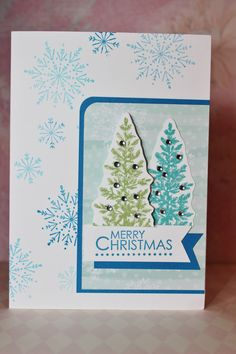 Stampin Up Many Merry Stars and Lovely As A Tree