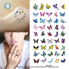 [Visit to Buy] Body Art waterproof temporary tattoos for women Beautiful butterfly design small arm tattoo sticker wholesales Small Arm Tattoos, Fake Tattoos, Temporary Tattoos, Body Art Tattoos, Girl Tattoos, Tattoos For Women, Tattoo Small, Symbolic Tattoos, Unique Tattoos