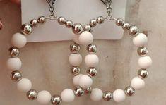 Handmade Wire Jewelry, Earrings Handmade, Diy Jewelry, Fashion Jewelry, Jewelry Making, Simple Earrings, How To Make Earrings, Quilling Earrings, Diy Rings