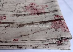 1 Yard Indian Hand Block Print fabric 100% Cotton resit dabu Print fabric 011 #Handmade