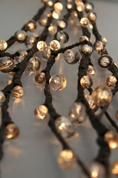 Lighted branches - can i make this myself with twinkle lights and wire?