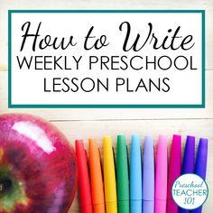 Preschool Lesson Plan Template for Weekly Planning - Preschool Teacher 101