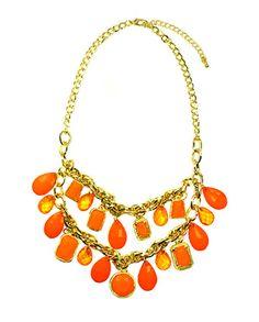 Tangerine Dream Gold Necklace  $34