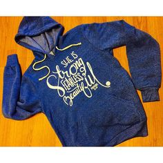 NEW FALL DESIGN Good morning lovelies, oh how we adore new fall samples.  This new true blue sweatshirt designed by @jaanabrett is SUPER-soft and oh so cozy.  #Hers collection drops for fall/winter 2015 on October 1!  #WearThePromise #Hers #instagood #love #shophandmade #shop #walkingwitness #christianclothing #churchwear #Jesuswear #jesusisenough #Christ #fw15 #aw15 #fallfashion #Faith #fall #hoodie #ladiesfashion #dope