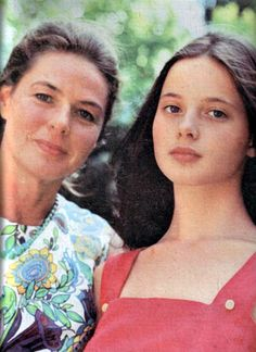 Ingrid Bergman and daughter Isabella Rossellini