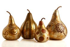 One Kings Lane - Handcrafted Halloween - Gilded Autumn Gourds, Asst of I have purchased many products from this company! They're awesome! Halloween Gourds, Fall Halloween, Painted Gourds, Gourd Art, Country Art, Painting Workshop, Handmade Home, Fall Pumpkins, Beautiful Patterns