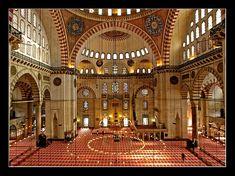 Suleymaniye Mosque interior - Suleymaniye, Istanbul