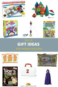 Gift Guide for Christmas and Birthday ideas for Homeschooled kids! There are a few unique things on here that you may not have thought of! Unique gifts for boys and girls!  via @Crazy Family Adventure