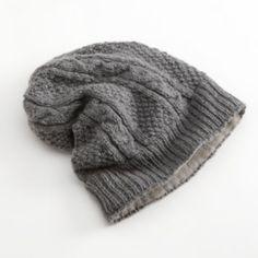 SIJJL+Cable-Knit+Wool+Beanie