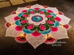 Rangoli designs diwali - 51 Diwali Rangoli Designs Simple and Beautiful – Rangoli designs diwali Indian Rangoli Designs, Rangoli Designs Latest, Rangoli Designs Flower, Rangoli Designs Images, Rangoli Designs With Dots, Flower Rangoli, Beautiful Rangoli Designs, Latest Rangoli, Rangoli Colours