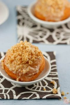 Apple Filled Crumb Donuts from Dessert First