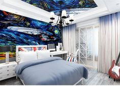 "Custom 3D photo wallpaper home decor room mural The ""Star Trek"" painting 3d photo sofa TV background wall non-woven wallpaper"