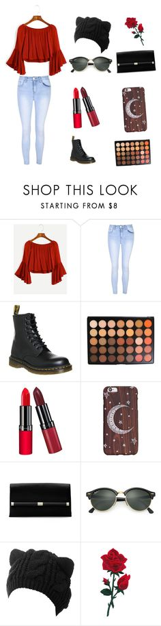 """""""Untitled #14"""" by annaschub ❤ liked on Polyvore featuring Glamorous, Dr. Martens, Morphe, Rimmel, Diane Von Furstenberg and Ray-Ban"""