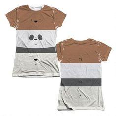 We Bare Bears Bear Stack Juniors Sublimation Allover Print T-Shirt  