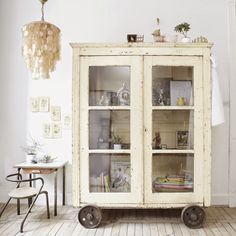 #LGLimitlessDesign #Contest ...I like the look of the wheels on this cabinet. It would make a neat dish dresser in a shabby chic kitchen or dining room.