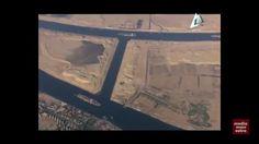 اول صورة لاول سفينتين تمران متقاطعتين في قناة السويس الجديدة وقت كلمة السيس في الافتتاح