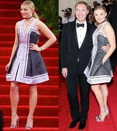 Chloë Grace Moretz Underwhelms in Coach Dress and Tacky Sandals