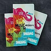 Journal-we are music makers journal :  The Write Now Journal line features beautiful design, modern typography, bold sentiments, striking artwork, and periodic typeset quotations—with plenty of lined pages to capture the day's thoughts, musing, and prose.