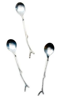 love these // Silver Sapling Twig Demitasse Spoon //Leif
