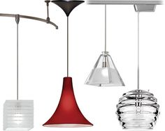 WAC Lighting Cosmopolitan Collection Pendants - Single or multi-pendants, track or monorail pendants - Brand Lighting Discount Lighting - Call Brand Lighting Sales to ask for your best price! Pendant Track Lighting, Lighting Sale, Peninsula Lighting, Basement Lighting, Multi Light Pendant, Discount Lighting, Glass Replacement, Crystal Collection
