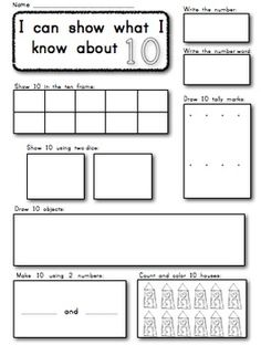 Kindergarten: Show and Make Math Numbers 1-10 Supports Common Core. $ Try in Collaborative math journals rather than individuals using Kagan strategies??