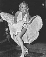 """Hollywood starlet Marilyn Monroe strikes her iconic """"billowing skirt"""" pose in this great portrait poster! Check out the rest of our classy selection of Marilyn Monroe posters! Need Poster Mounts. Marylin Monroe, Marilyn Monroe Frases, Marilyn Monroe Cuadros, Fotos Marilyn Monroe, Marilyn Monroe Costume, Marilyn Monroe Clothes, Marilyn Monroe Brunette, Young Marilyn Monroe, Hollywood Glamour"""