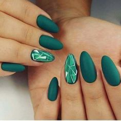 Acrylic Nails Green Design MERNUR hopes these 30 Most Sexy and Stunning Green Nails Design (Matte Nails, Acrylic Nails) You Should Try that can help you out. We hope you like this collection. ♡Matte nails are one of the hottest trends in French Tip Nail Designs, Almond Nails Designs, Simple Nail Art Designs, French Tip Nails, Acrylic Nail Designs, Green Nail Designs, French Manicures, Simple Art, Solid Color Nails