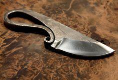 Forged knifevikinkg style  neck knife by HKnives on Etsy