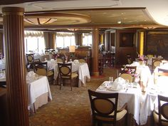 Cunard Queen Victoria Princess Grill Restaurant by garybembridge, via Flickr - visit my site at http://www.tipsfortravellers.com for more on travel