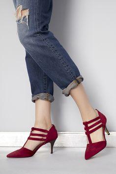 Triple strap mid heels | Sole Society Mallory