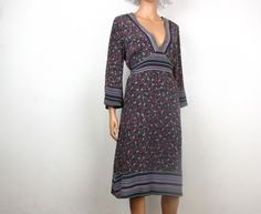 Silk boho dress size large from Oso Victoria $15
