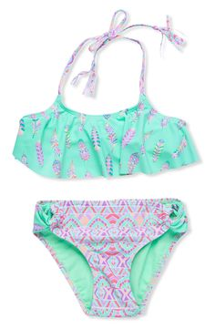 Gossip Girl 'Bohemian' Two-Piece Swimsuit (Big Girls)