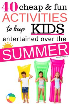 40 creative ideas that will keep your kids busy all summer long. Let's keep the kids entertained and you sane with these great outdoor activities for kids of all ages. Kids Outdoor Play, Outdoor Activities For Kids, Family Activities, Summer Activities For Kids, Summer Kids, Enjoy Summer, Best Money Saving Tips, Money Tips, Saving Money